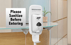 Image360 provides Hand Sanitizer Stations for your COVID-19 vaccine distribution effort